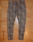 Pluszowe legginsy w panterkę...