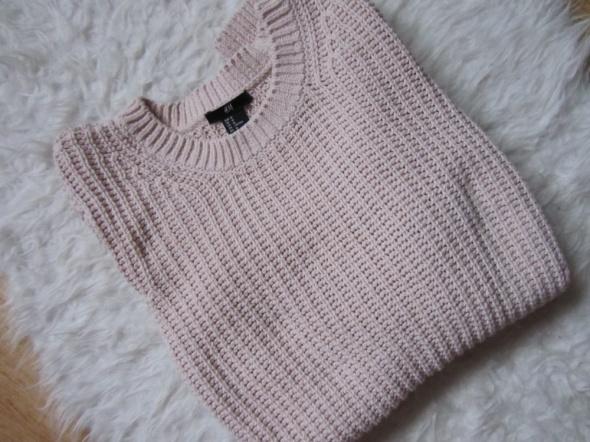 Sweter pudrowy róż basic...