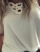 Bluzka ozdobny dekolt koła