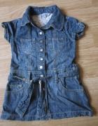 Sukienka jeansowa szmajzerka roz 98...