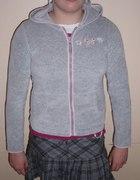 2 Sliczne z weluru i baweły szare bluzy 164 wzrost...