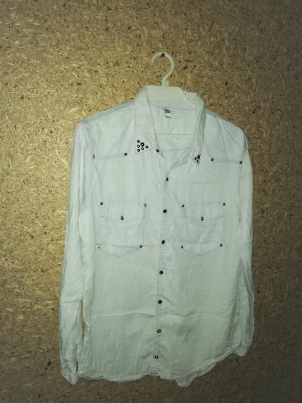 H&M Jeansowa miękka koszula z ćwiekami 44...