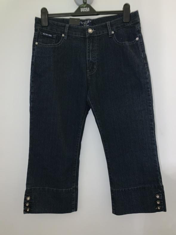 nowe jeansowe rybaczki Wejfa W34 42 44...