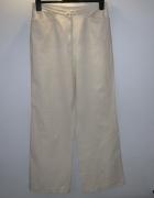 jak nowe beżowe lniane spodnie 42...