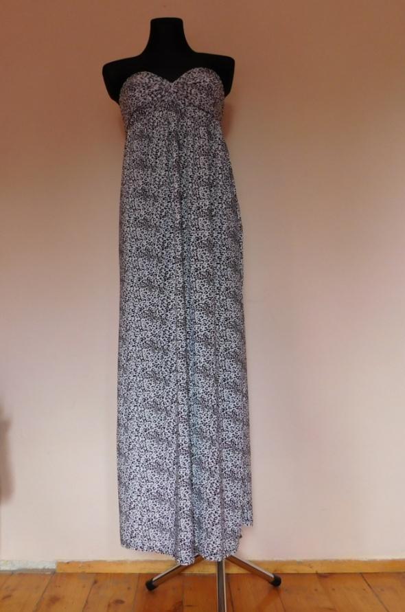 Długa sukienka panterka maxi sexy 38...