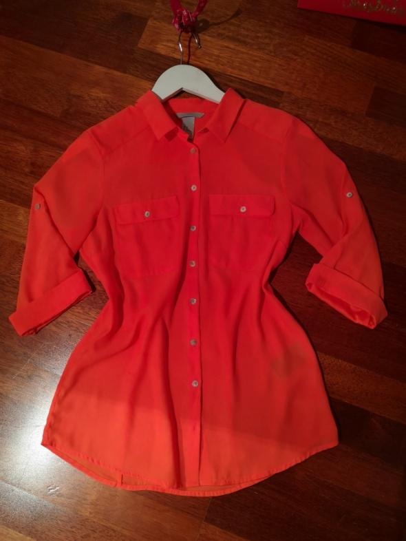 koszula hm pomarańczowa