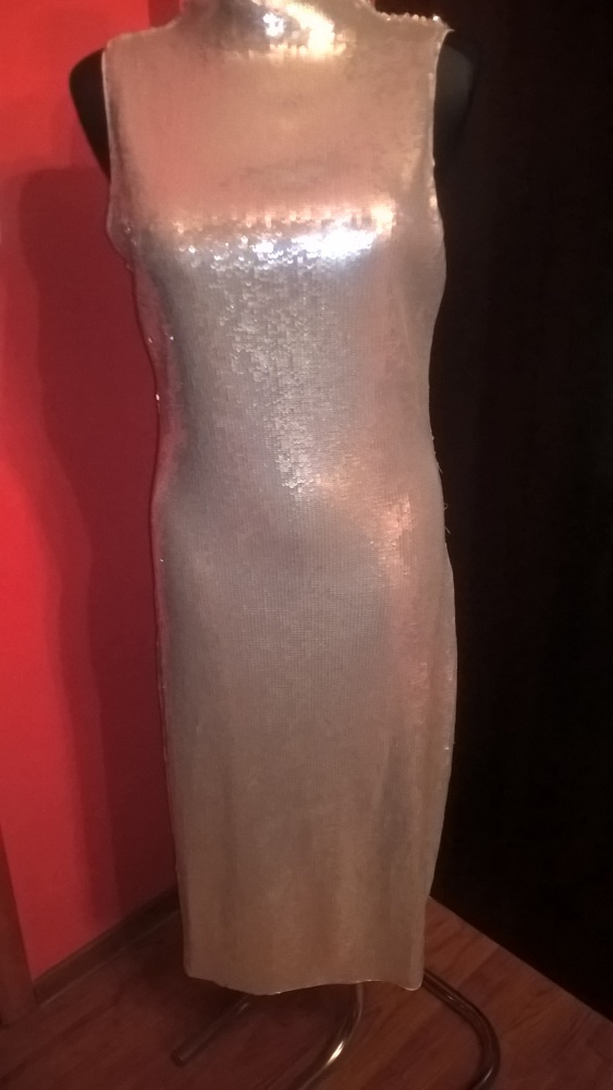 Suknie i sukienki Imprezowa sukienka srebrna