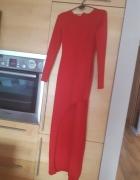 Cudowna sukienka czerwona dluga...