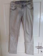 Białe spodnie rurki dżinsy jeansy ML...