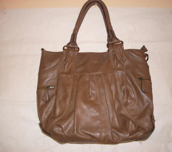 Brązowa torba torebka a4