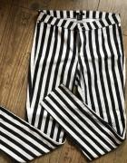 H&M spodnie w paski rurki jak NOWE...