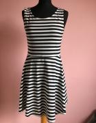 Sukienka H&M w paski XL 42 Tunika...