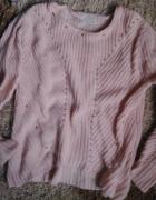 Sweter pastelowy ZARA xs oversize morelowy ćwieki