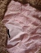 Bluzka pudrowa Zara 36 róże 3d new
