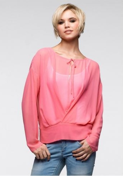RAINBOW różowa przezroczysta bluzka rozmiar 36...