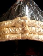 nowy komplet 3 złotych wieszaków glamour eleganckie