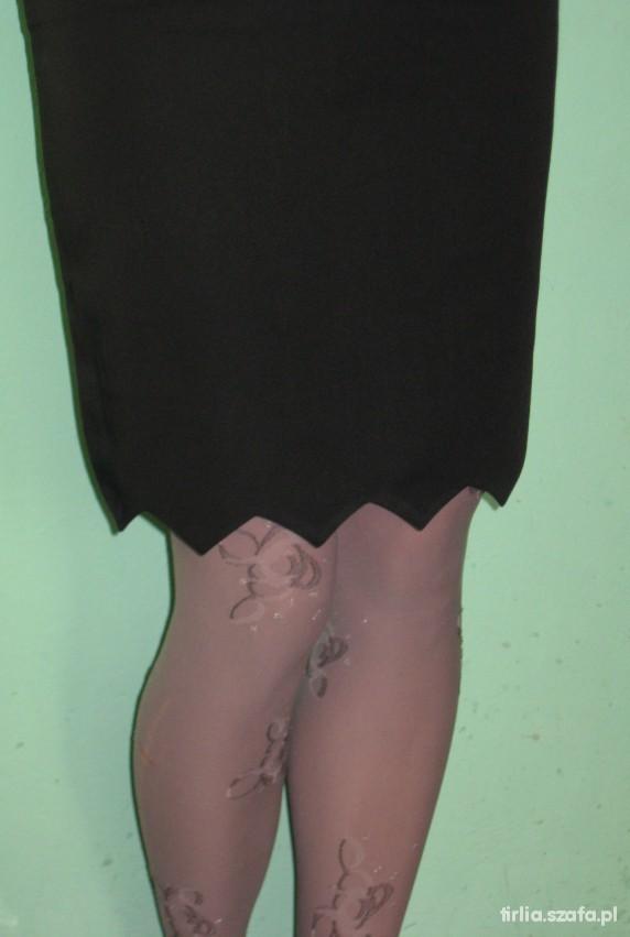 Spódnice czarna spódnica ząbki
