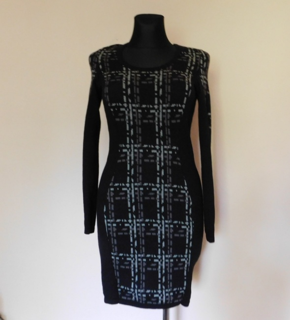 Mexx sukienka midi szara czarna 34 36...