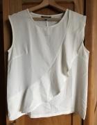 Biała bluzka Top Secret 38 M grubszy materiał falbanka eleganck...