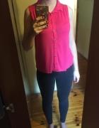 Różowa koszulka New Look...