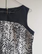 Sukienka czarno biała bez rękawów
