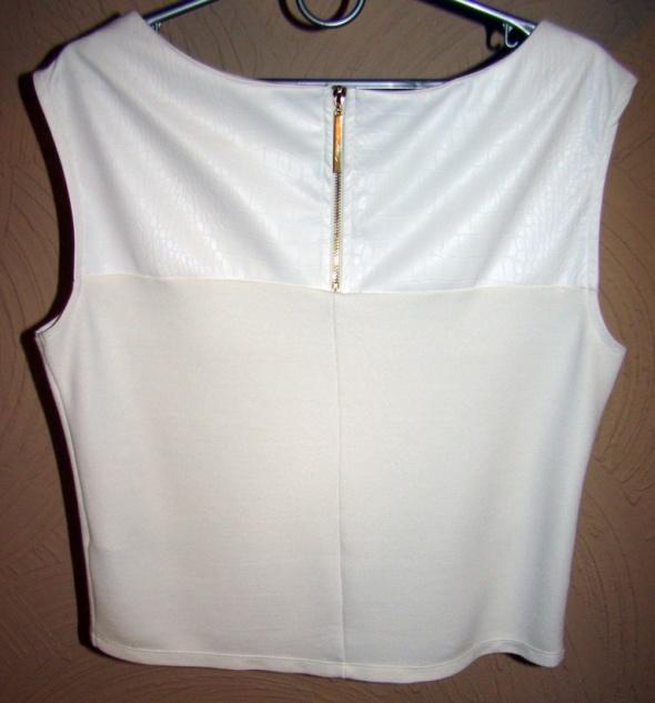Bluzki Bluzeczka MOHITO skórka zamek S