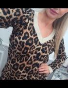 bluzka sweterkowa panterka wiązana...