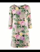 Sukienka H&M 34 XS róże floral kwiaty rose garden