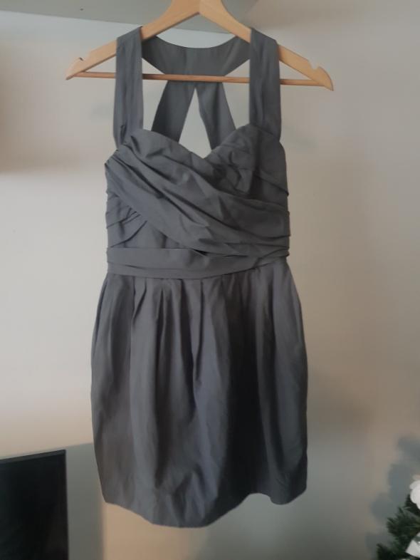 Sukienka szara bombka...