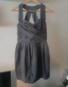 Sukienka szara bombka