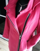 NOWY Subtelny malinowy płaszcz ramoneska