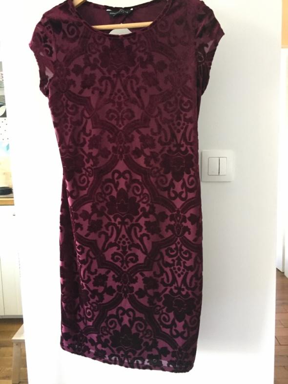 Nieziemska sukienka w kolorze wina Dorothy Perkins rozm 38...