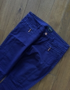 Granatowe materiałowe spodnie RESERVED rozm 38