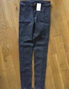 Jeansowe ciemnoszare spodnie nowe z metką H&M rozm 40