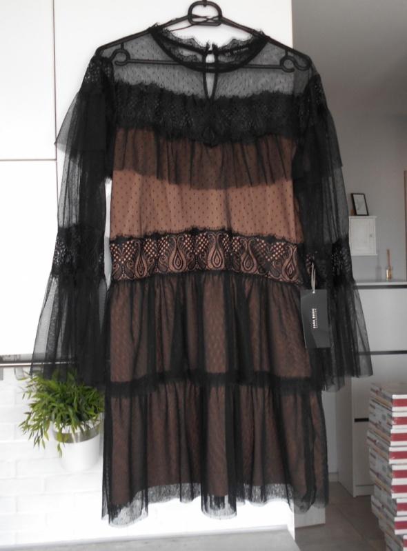 Zara nowa koronkowa sukienka tiulowa tiul...