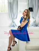 Sukienka KSIĘŻNICZKA marki S Morris chabrowa rozmiar M...