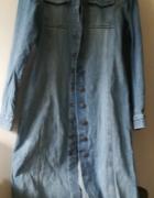sukienka dżinsowa płaszcz 38 40 vintage