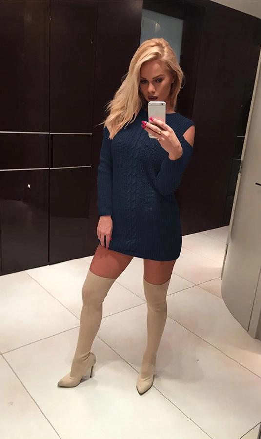 Sweterek tunika z wyciętymi ramionami rozmiar S...