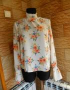 Stradivariuss zwiewna bluzka koszula ze stójką roz 36...