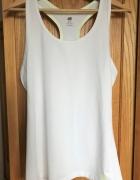 Biały top sportowy H&M L 40 bluzka bokserka sportowa...