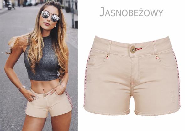 Spodenki beżowe Resalsa fashion jeans rozm SM...