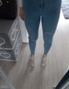 Spodnie jeansy wysoki stan...