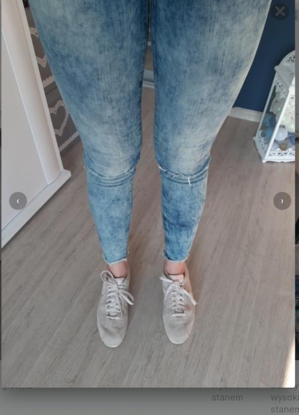 Spodnie jeans wysoki stan