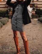 Miss Selfridge piękna modna sukienka w kratkę...