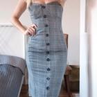 Miss Selfridge piękna modna sukienka w kratkę