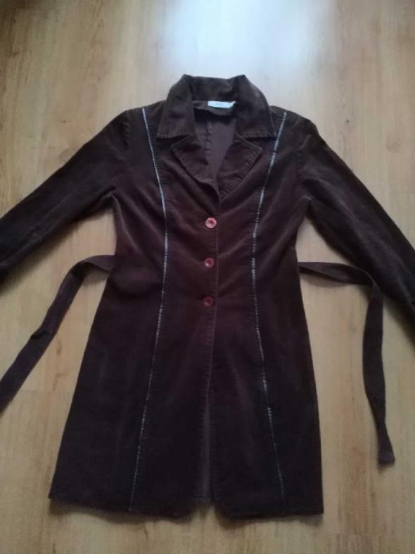 Płaszcz żakiet sztruks brązowy AVA 40 L