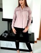 pudrowy róż bluzka koszula polski producent rozmiar 36...