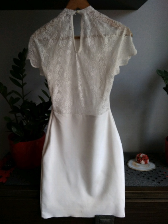 Suknie i sukienki sukienka Zara koronka