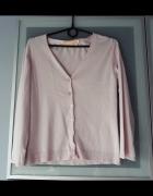 Sweterek rozpinany pudrowy róż rozmiar S...
