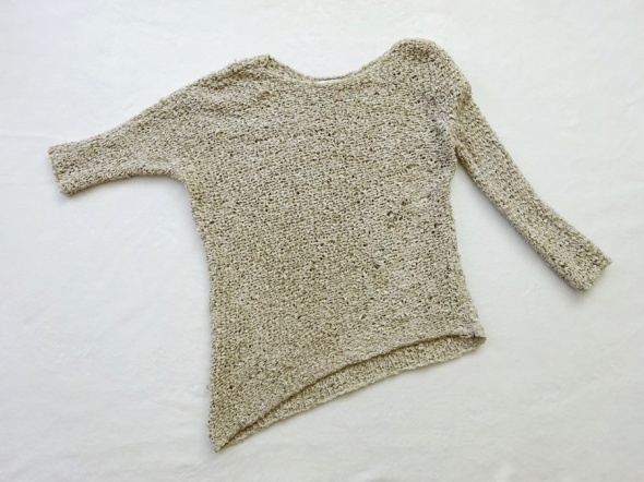 ZARA beżowy asymetryczny sweter 36 S...